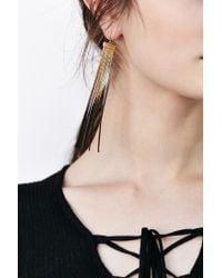 Urban Outfitters - Metallic Fire + Ice Fringe Drop Earring - Lyst