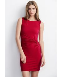 Velvet By Graham & Spencer - Red Tandie Stretch Jersey Knot Dress - Lyst