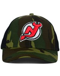 Reebok - Green New Jersey Devils Camo Trucker Cap for Men - Lyst