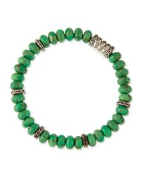 John Hardy | Green Mens Mohave Bedeg Beaded Bracelet | Lyst