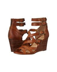 Frye | Brown Rain Strappy Wedge | Lyst