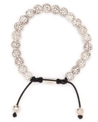 Nialaya | White Lava Crystal-embellished Beaded Bracelet for Men | Lyst