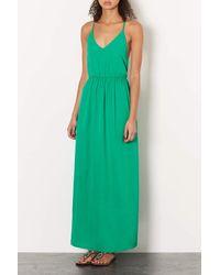 TOPSHOP - Jewel Green Beaded Back Maxi Dress - Lyst