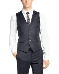 HUGO   Blue Finely Patterned Extra-slim-fit 3-piece Suit In New-wool Blend: 'armento/wian/hawer' for Men   Lyst