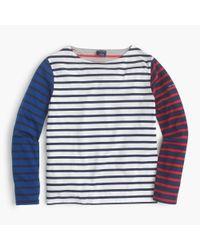 J.Crew - Blue Saint James Colorblock Stripe T-shirt - Lyst