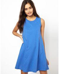 Glamorous | Blue Sleeveless Swing Dress In Flecked Jersey | Lyst