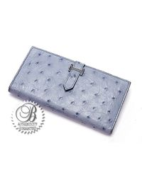 Hermès - Pre-Owned Blue Jean Ostrich Bearn Wallet - Lyst