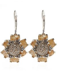 Stephen Dweck | Metallic Silver Rutilated Quartz And Diamond Earrings | Lyst