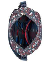Tommy Hilfiger - Blue Training Plus Solid Nylon Small Convertible Hobo - Lyst