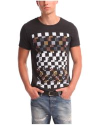 BOSS Orange | Black 'tiberion' | Cotton Block Print T-shirt for Men | Lyst