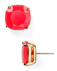 Kate Spade | Metallic Small Square Stud Earrings | Lyst