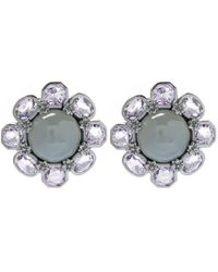 Stephen Dweck | Black Silver Moonstone Flower Stud Earrings | Lyst