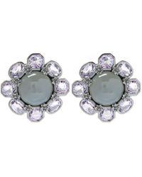 Stephen Dweck   Black Silver Moonstone Flower Stud Earrings   Lyst