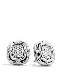 David Yurman - Metallic Labyrinth Earrings With Diamonds - Lyst