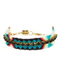 Gypsies & Debutantes | Black Rhinestone Friendship Bracelet, Small | Lyst