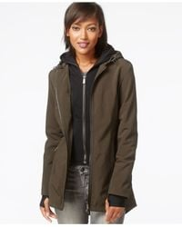 DKNY - Green All-weather Soft-shell Jacket With Vest - Lyst