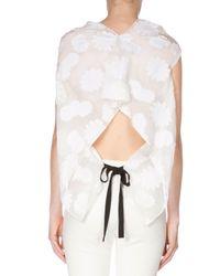 Roland Mouret - White Daisy-print Cotton Top - Lyst