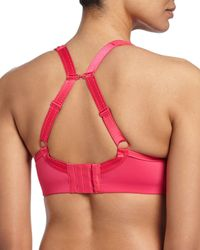 Chantelle - Pink High Impact Contour Sports Bra - Lyst