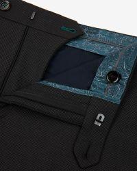 Ted Baker | Gray Birdseye Trousers for Men | Lyst
