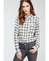 Forever 21 - Black Plaid Button-down Shirt - Lyst