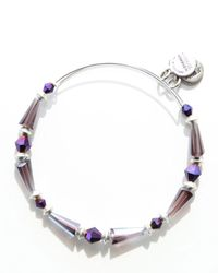 ALEX AND ANI | Purple Majestic Spirit Expandable Wire Bangle | Lyst
