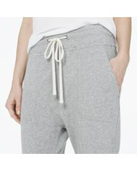 James Perse - Gray Cropped Slouchy Sweatpant - Lyst