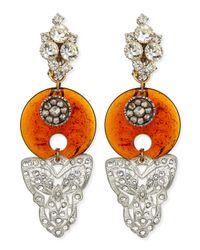 Lulu Frost - Orange One-of-a-kind 100 Year Earrings with Root Beer Bakelite - Lyst