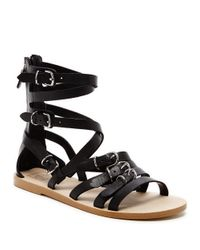 Dolce Vita | Black Okena Strappy Leather Sandals | Lyst