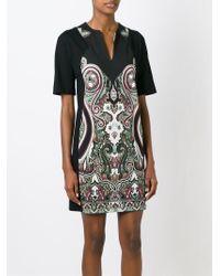Etro - Black Paisley Print Shift Dress - Lyst