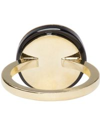 Isabel Marant - Metallic Gold And Black From The Block Ring - Lyst