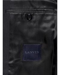 Lanvin - Black Raw Edge Lapel Trim Blazer for Men - Lyst