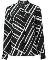 Ferragamo | Black Printed Shirt | Lyst