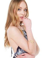 AKIRA | Metallic Spring Leaf Gold Bracelet | Lyst