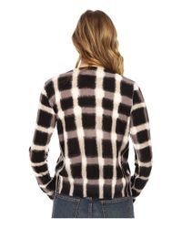 Marc By Marc Jacobs   Black Blurred Plaid Printed Cotton Cardigan   Lyst