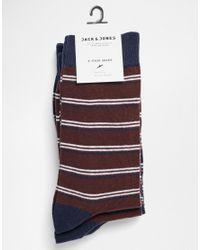 Jack & Jones   Multicolor 4 Pack Socks With Stripe for Men   Lyst