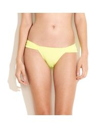 Madewell   Yellow Mara Hoffmanreg Neon Bikini Bottom   Lyst