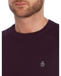Original Penguin - Purple Badense Crew for Men - Lyst