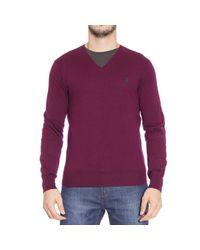 Polo Ralph Lauren - Purple Sweater Merino V Slim Fit for Men - Lyst