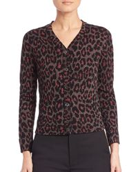 Marc By Marc Jacobs - Metallic Leopard-print Cardigan - Lyst