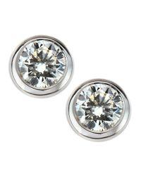 Roberto Coin - Metallic Bezelset Diamond Stud Earrings - Lyst