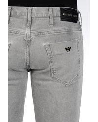 Emporio Armani - Gray Jeans for Men - Lyst