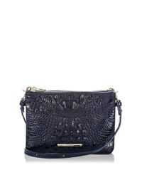 Brahmin | Blue Perri Leather Crossbody Bag | Lyst