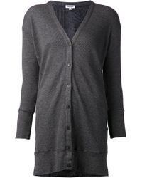 Splendid - Gray Button Cardigan - Lyst