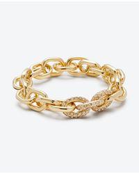 Ann Taylor | Metallic Pave Link Stretch Bracelet | Lyst
