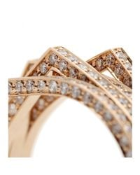 Repossi - Metallic Antifer 18kt Rose Gold Ring With White Diamonds - Lyst