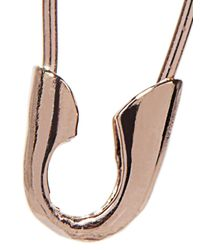 Loren Stewart | Pink Rose-Gold Safety Pin Earrings | Lyst