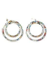 Alyssa Norton - Multicolor Woven Double Hoop Earrings - Lyst