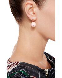 Delfina Delettrez - Pink 18k Gold Stone Edge Pierced Earring - Lyst