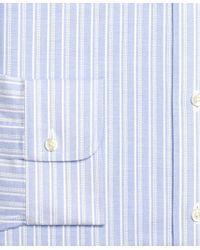 Brooks Brothers - Blue Non-iron Extra-slim Fit Brookscool® Sidewheeler Stripe Dress Shirt for Men - Lyst