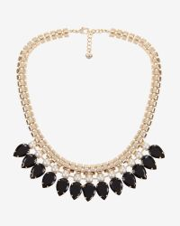 Ted Baker | Black Teardrop Crystal Necklace | Lyst